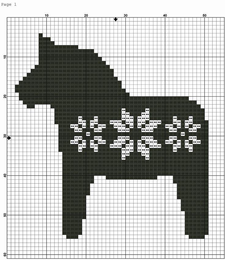 Katrinshine: Dala Horse free cross stitch pattern