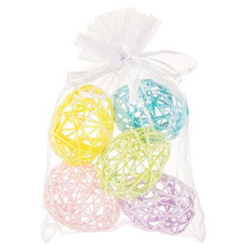 Pastel Wrapped Rope Easter Eggs
