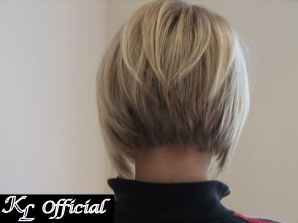 Back View Of Angled Bob Haircut Pictures