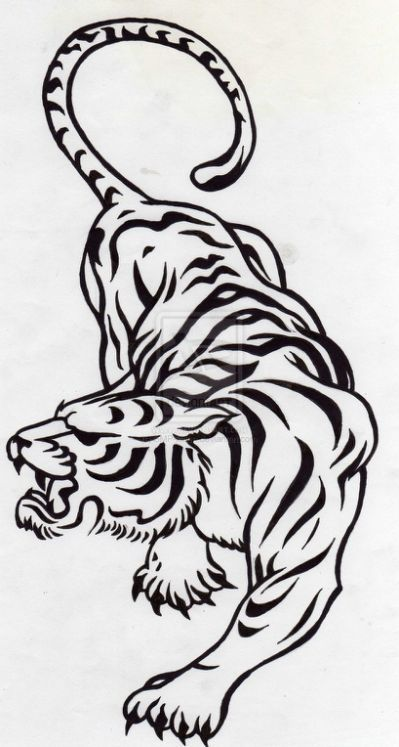 Tribal tiger design by SMP-kitten