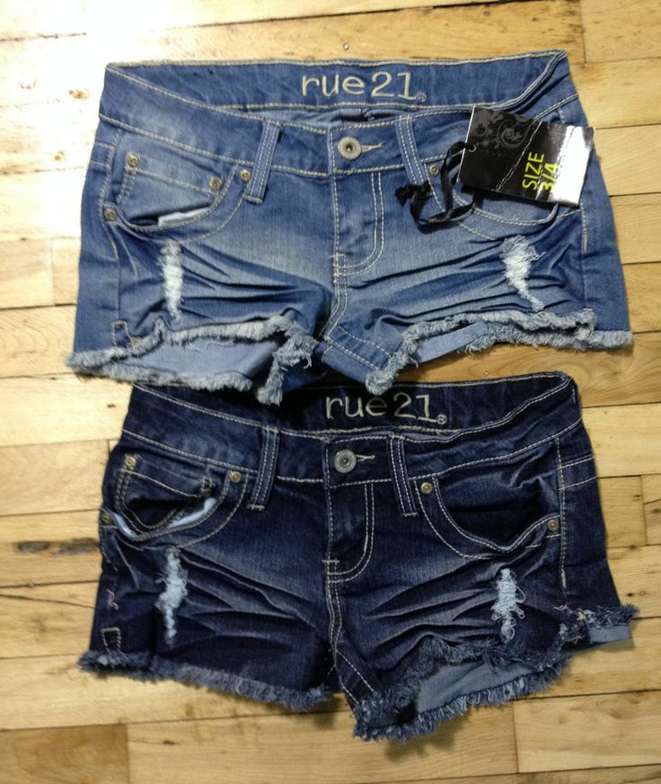 rue21 NWT ★ Cut-off Shorts size 3 / 4  ★ Denim Micro Mini Daisy Dukes LOT #rue21 #Denim
