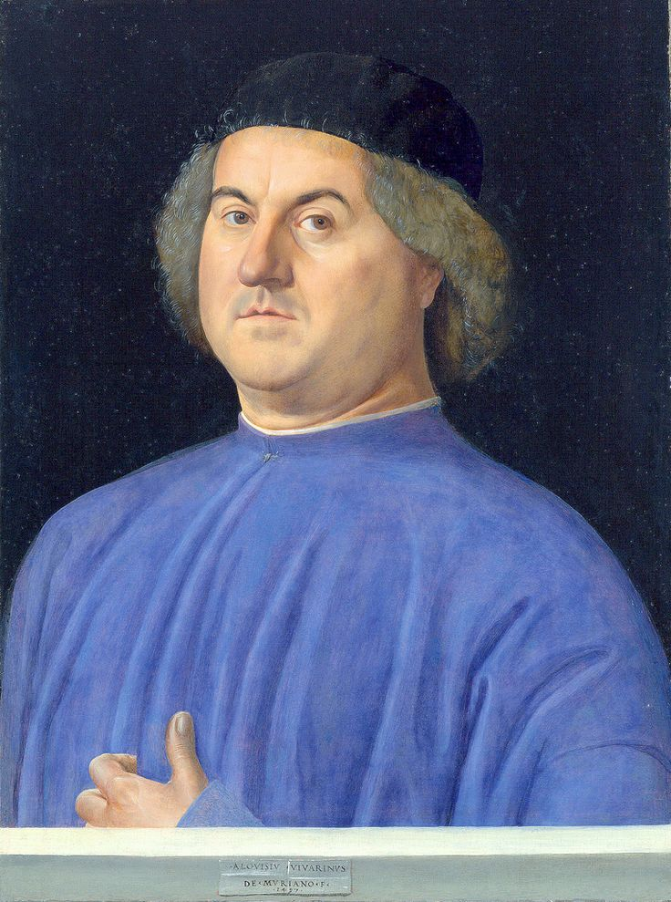 Alvise Vivarini [1442/53-1503/05] Portrait of a man [1497] Gesichter der Renaissance faces Catalogue no. 166 Berlin Bode Museum London National Gallery