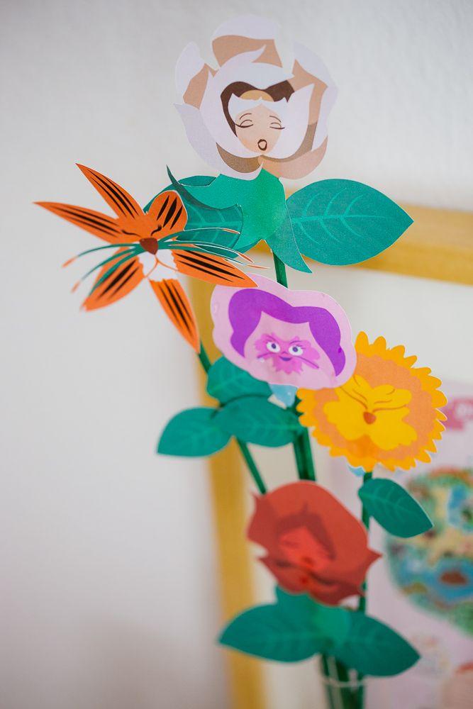 DIY les fleurs d'Alice aux pays des merveilles