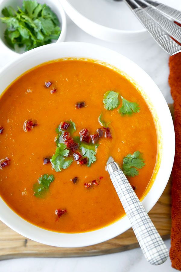 Sweet Potato Chorizo Soup - Loaded with fall vegetables, this smoky Sweet Potato Chorizo Soup Recipe celebrates the changing seasons. Sweet potato soup never tasted so good! Recipe, healthy, soup, appetizer, dinner   pickledplum.com