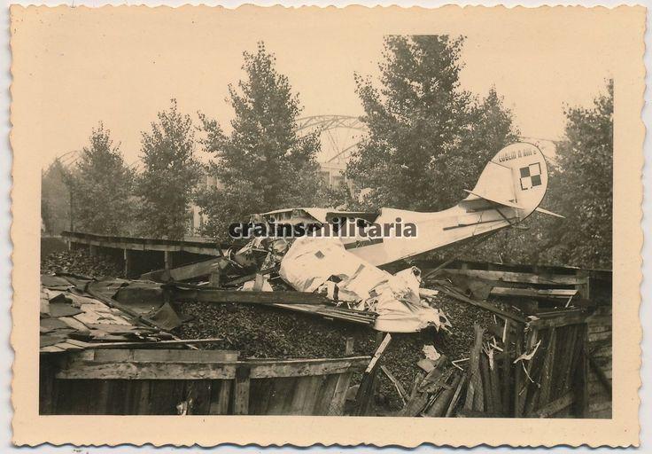 Orig. Foto polnisches Flugzeug Wrack Lublin R-XIII Kennung Warschau Okecie Polen   eBay