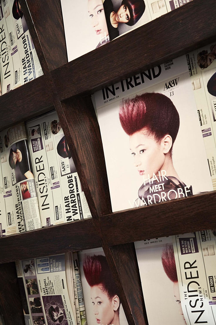 Branded newspapers and magazines created for Toni 'Hair Meet Wardrobe' during London Fashion Week 2013.   More examples from this project at www.facebook.com/sixredsquares