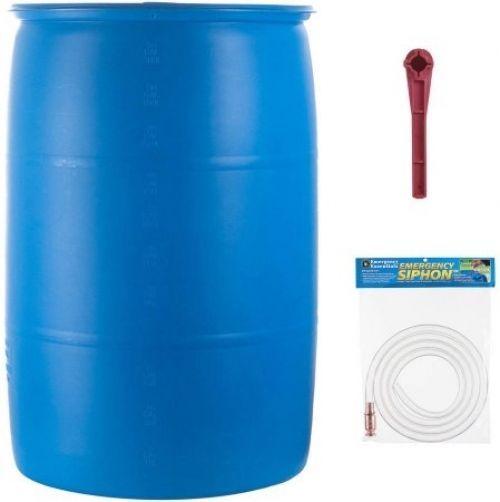 Emergency Essentials Food 55 Gallon Water Barrel Set 3 Pc Survival Storage  #EmergencyEssentials