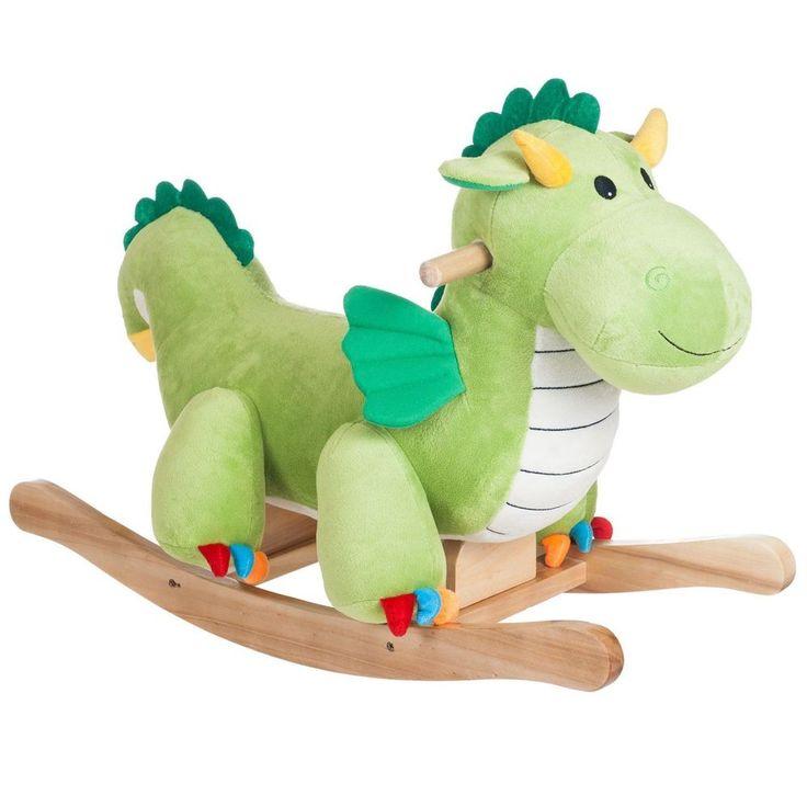 Rocking Horse Animal For Kids Dragon Ride On WoodenToy Children Swing Rocker New #RockingHorseAnimal
