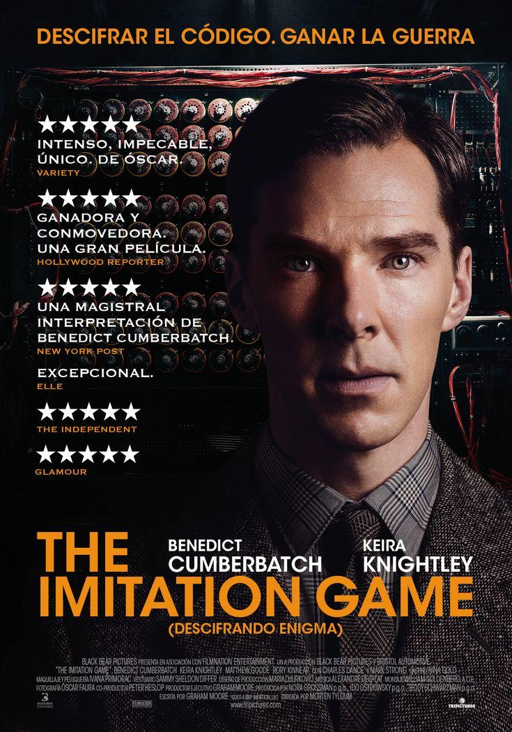 """The imitation game: es la historia de un científico implicado en descifrar la máquina """"Enigma"""" usada por los nazis para codificar sus comunicaciones, también es una historia de discriminación e hipocresía social, un papel magistralmente interpretado por Benedict Cumberbatch."""