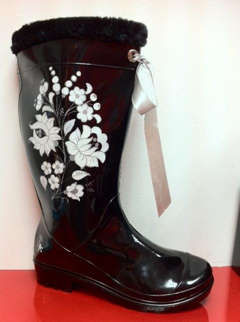 Hungarian folk fashion wellingtons boots