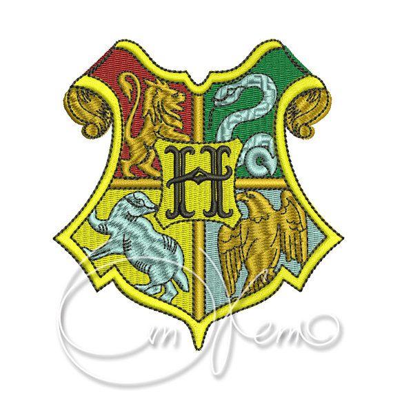MACHINE EMBROIDERY DESIGN - Hogwarts crest embroidery, Harry Potter embroidery, Hogwarts embroidery