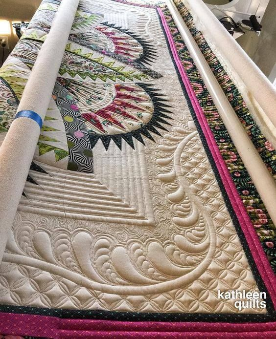 the actual quilt is as awesome as the quilting...
