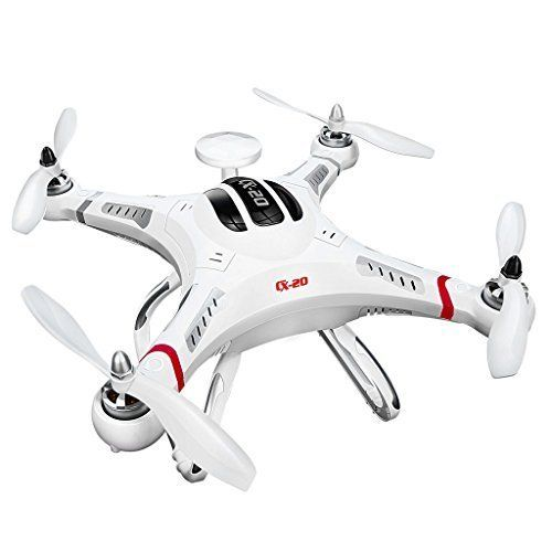 Cheerson CX-20 CX-20 Professional 2.4GHz 4CH 6-Axis Auto-pathfinder RC Quadcopter UFO Aircraft Toys with GPS - White drone reviews