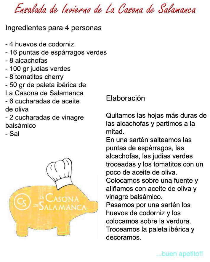 Una estupenda ensalada de invierno.  http://www.jamonibericosalamanca.es/es/