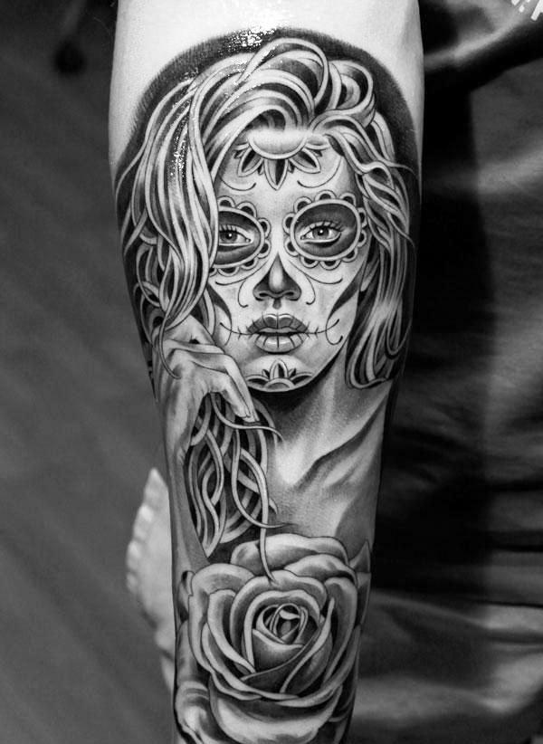 Skull Tattoo Designs For Womens