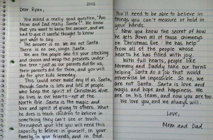 How to explain Santa when kids are older. (No link. Just the picture.)