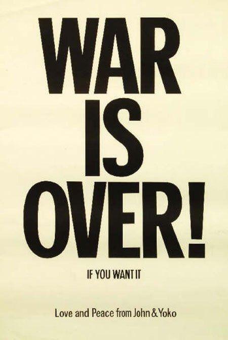 John Lennon WAR IS OVER 1970 Original Protest Poster by roklegends on Etsy https://www.etsy.com/listing/168720416/john-lennon-war-is-over-1970-original