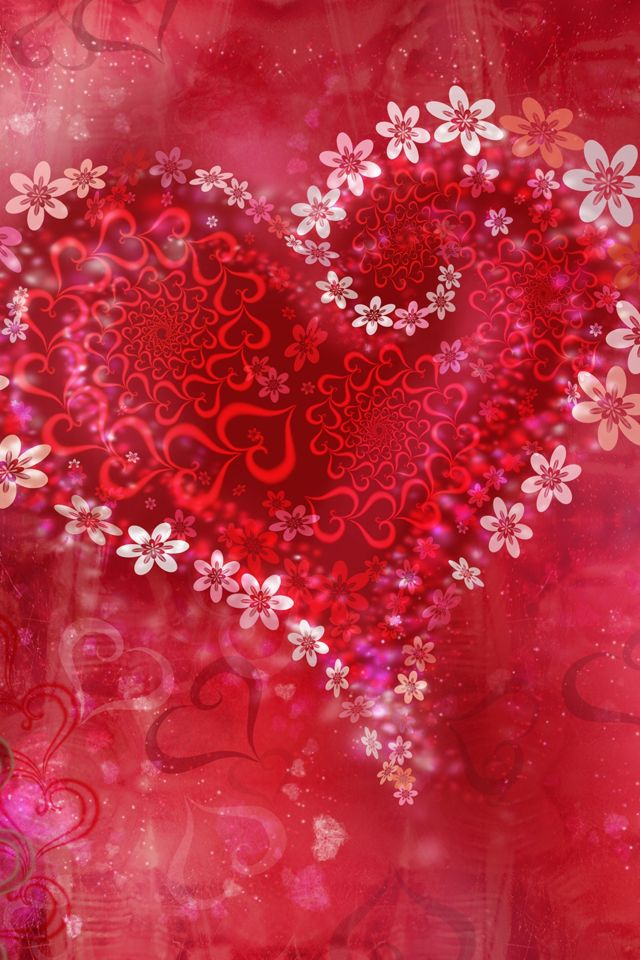 109 best images about heart on pinterest heart hearts - Valentine s day flower wallpaper ...