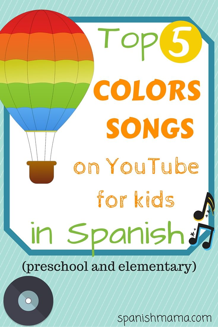 Spanish colors for preschool - Los Colores Our Favorite Colors Song In Spanish Preschool