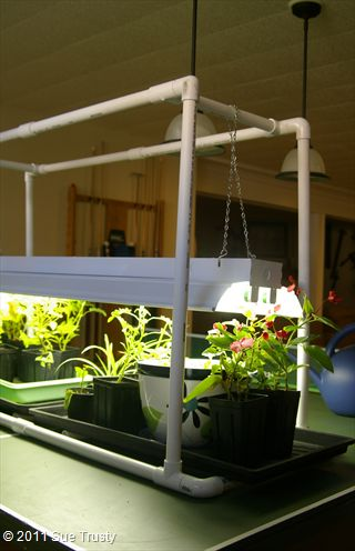 Build A Light Stand For Seed Starting