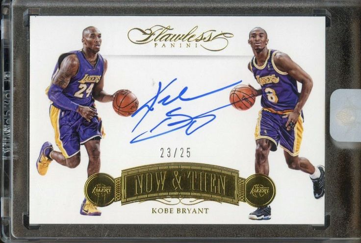 2015-16 Flawless Now & Then Kobe Bryant Los Angeles Lakers AUTO 23/25