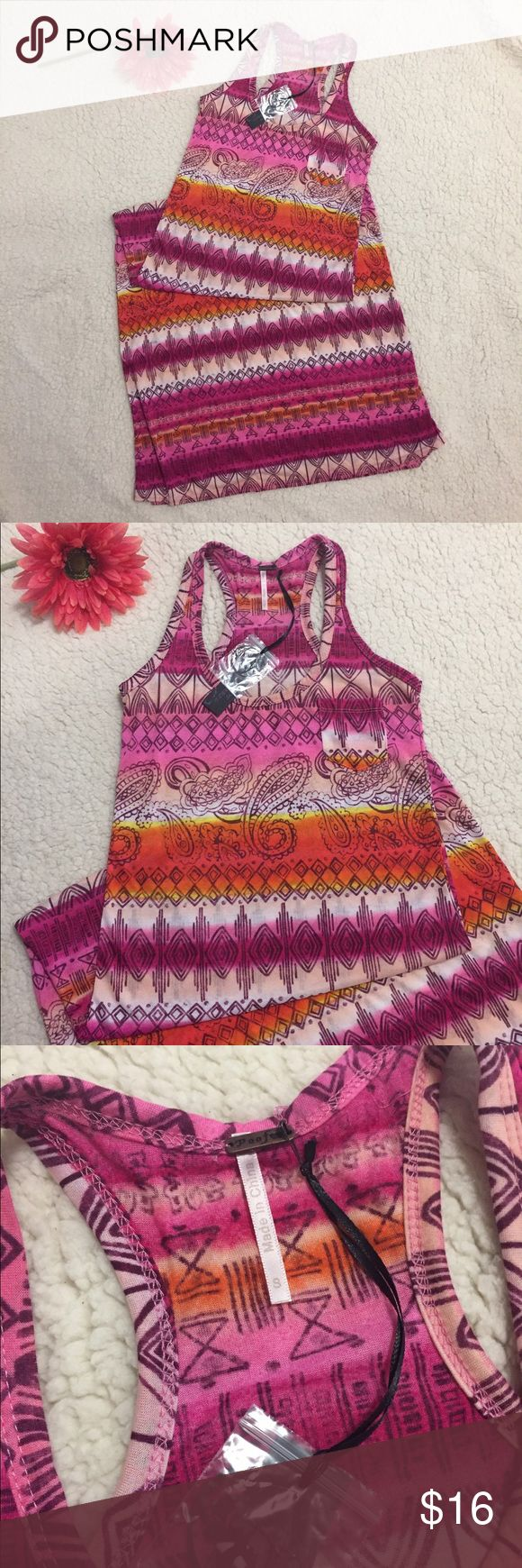 Poor Aztec Maxi Dress  NWT Adorable little patterned sundress. Perfect for any summer day Poof! Dresses Maxi