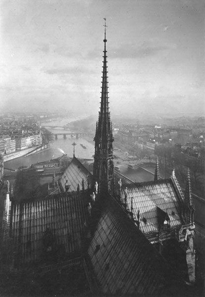 Yvon Image Title: Spire of Notre Dame - Paris Year: c. 1920s