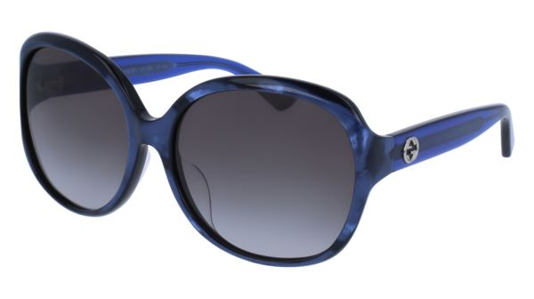 f114ba7f87ee Gucci - GG0080SK-005 Blue Sunglasses / Grey Gradient Lenses. Saved by. New  York Glass