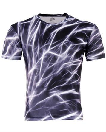 Fashion Spark Printing Crew Neck Short Sleeve Casual Men T Shirts