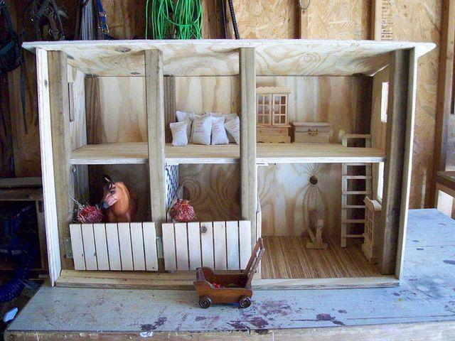 Homemade Barn for Horses |