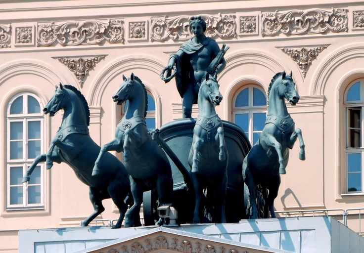 Cavalry at the Bolshoi Theater in Moscow