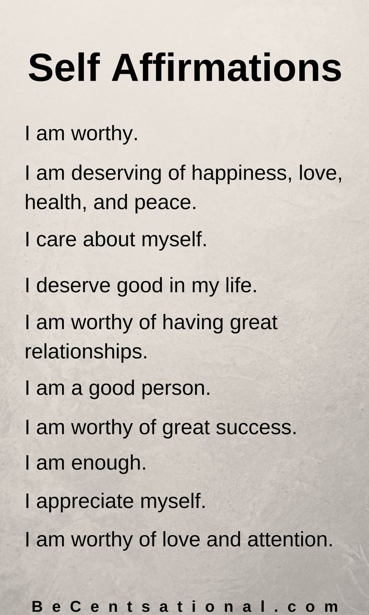 Daily Affirmations Self Worth