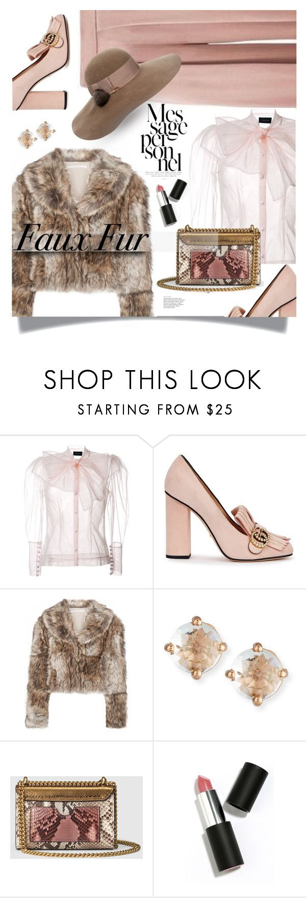 """""""Wow factor: faux fur"""" by nineseventyseven ❤ liked on Polyvore featuring Cushnie Et Ochs, Simone Rocha, Gucci, STELLA McCARTNEY, Suzanne Kalan, Sigma, Eugenia Kim and fauxfur"""
