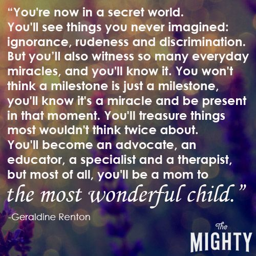 THE MIGHTY: 35 Secrets of Being a Special Needs Parent - Quote #9