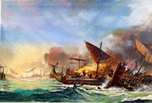 Battle of Salamis  Greeks against the Persians