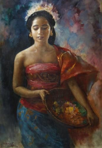 An Indonesian Beauty - Basuki Abdullah - WikiPaintings.org