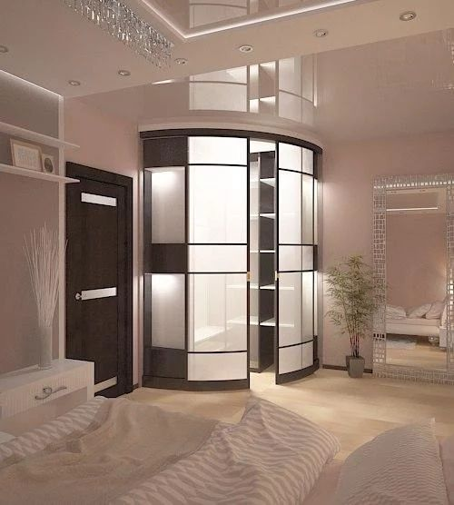 Спальня для молодой девушки с угловой гардеробной, г. Санкт-петербург.