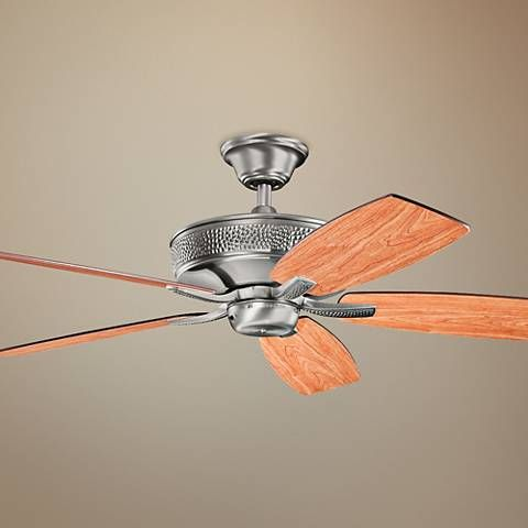 "52"" Monarch II Burnished Antique Pewter Ceiling Fan - #17V40 