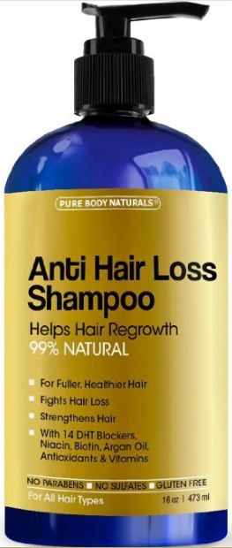 Hair Regrowth and Anti-Hair Loss Shampoo - A flavoring and natural hair remedy - ninety nine Natural Fight Hair Loss, Adds Volume, grow Hair, Contain Vitamins for Hair Growth Strengthen Hair with fourteen DHT Blockers NO Paraben, NO SLS, NO Harmful Chemicals, protein Free.