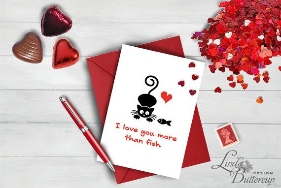 Valentines day card, I love you card, Anniversary card, Mothers day card, Valentine card, Funny Love card, Cute love card, Cat card, Cat art