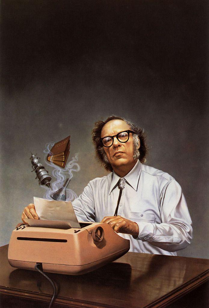 """Issac Asimov-- La presión del anti-intelectualismo ha ido constantemente abriéndose paso a través de nuestra vida política y cultural, alimentado por la falsa noción de que la democracia significa que """"mi ignorancia es igual de válida que tu conocimiento""""."""