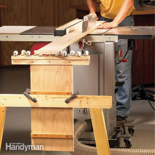 How To Build An Outfeed Table Woodworking Pinterest