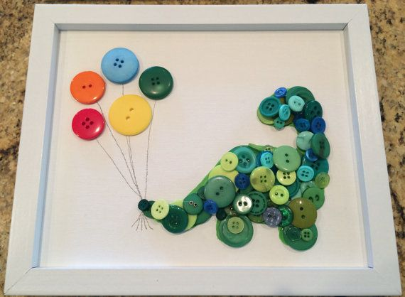 Hey, I found this really awesome Etsy listing at https://www.etsy.com/listing/245310681/framed-kids-button-art-dinosaur-with