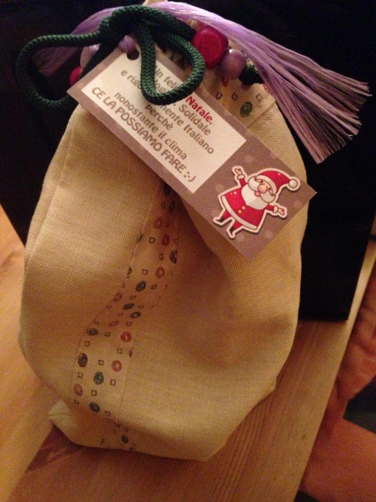 DIY Christmas gift bag #diy #sewing #christmas #fragulina #diytiger