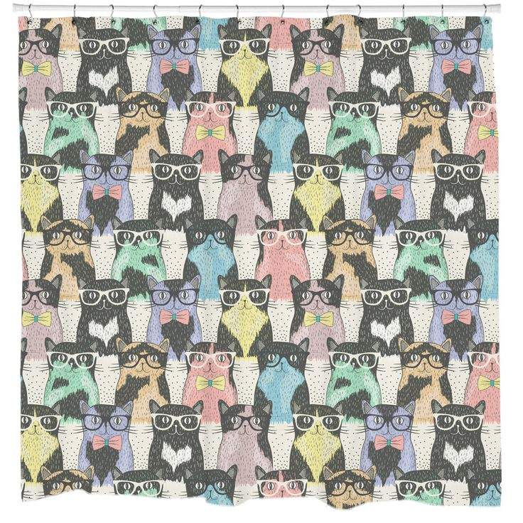 Nerdy Cats Shower Curtain