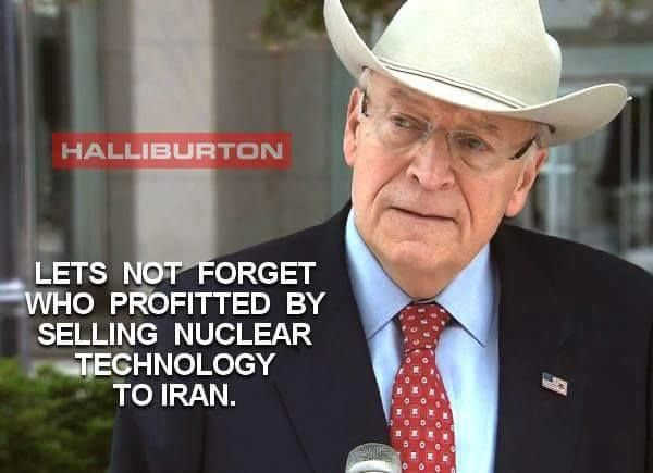Let's not forget who profited by selling nuclear technology to Iran in the first place. - Look it's DICK