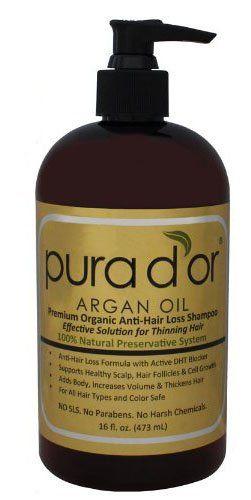 cool Pura d'or Premium Organic Anti-Hair Loss Shampoo (Gold Label), 16 Fluid Ounce