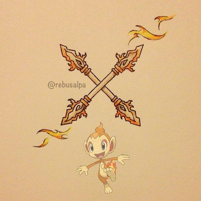 Pokeapon No. 390 - Chimchar. #pokemon #chimchar #vajra #pokeapon
