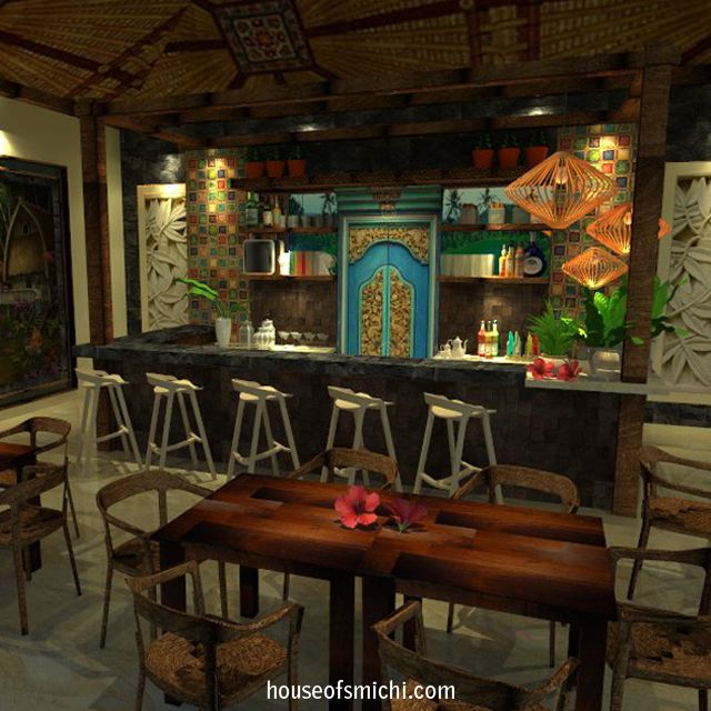 Inspired by the Ubud ambiance and culture that we use to make a restaurant and bar. Originally made by House of Smichi.