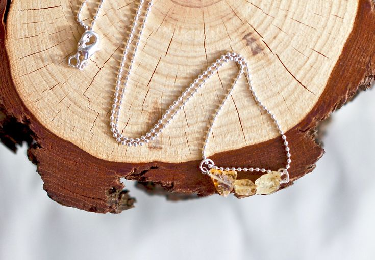 A personal favourite from my Etsy shop https://www.etsy.com/au/listing/550107167/citrine-raw-gemstone-necklace-sterling